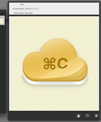 Capture d'écran 2013 02 26 à 21.13.00 413x500 Concours App4Mac : CloudClipboard, le copier/coller pour naviguer entre vos appareils pommés (4,49€)