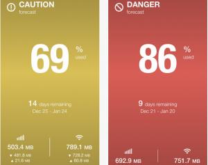Copie décran 2 300x237 Test de Dataman Next : Gérez votre forfait 3G (0,89€)