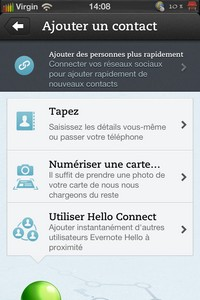 IMG 2830 Lapplication gratuite du Jour : Evernote Hello