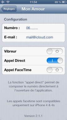 Mon amour 2 Lapplication Mon Amour V2 est gratuite en partenariat avec App4Phone