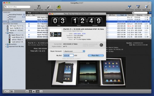 Test GarageBuy 11 500x312 App4Mac: GarageBuy, votre compagnon Ebay (gratuit)