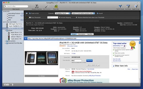 Test GarageBuy 3 500x312 App4Mac: GarageBuy, votre compagnon Ebay (gratuit)