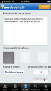 Test NosDevoirs 2 168x300 Lapplication gratuite du jour: NosDevoirs.fr