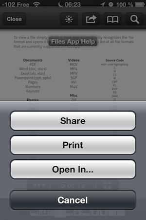 TestFiles 006 Test de lapplication Files (0,89€), un gestionnaire de document efficace et pas cher