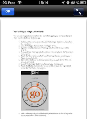 TestGoUniversal 009 Test de lapplication Go Universal (4,49€), indispensable aux propriétaires de projecteurs