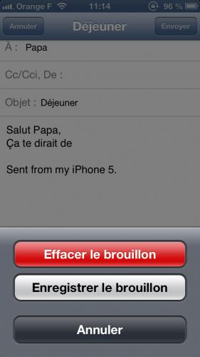 astuce ios brouillon mail1 281x500 Astuce iOS : reprendre rapidement la rédaction dun email