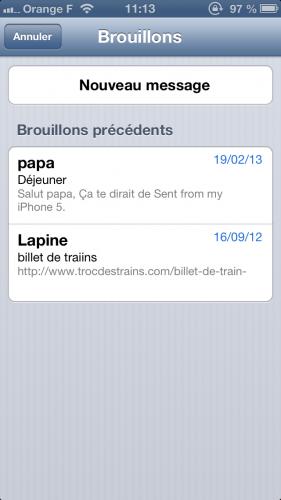 astuce ios brouillon mail 22 281x500 Astuce iOS : reprendre rapidement la rédaction dun email
