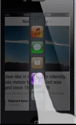 concept barre verticale Concept iOS : la barre du multitâche devient verticale