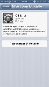 iOS 6 1 2 169x300 iOS 6.1.2 a la côte