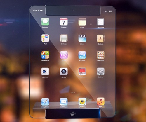 ipad transparent 500x416 Concept : un iPad transparent !