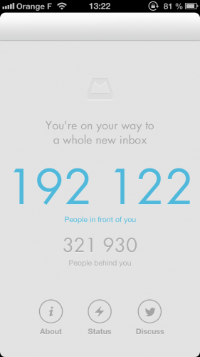 mailbox liste dattente 281x500 Test : Une semaine avec MailBox (gratuit)