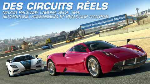 real racing 3 Real Racing 3 (gratuit) disponible sur lApp Store