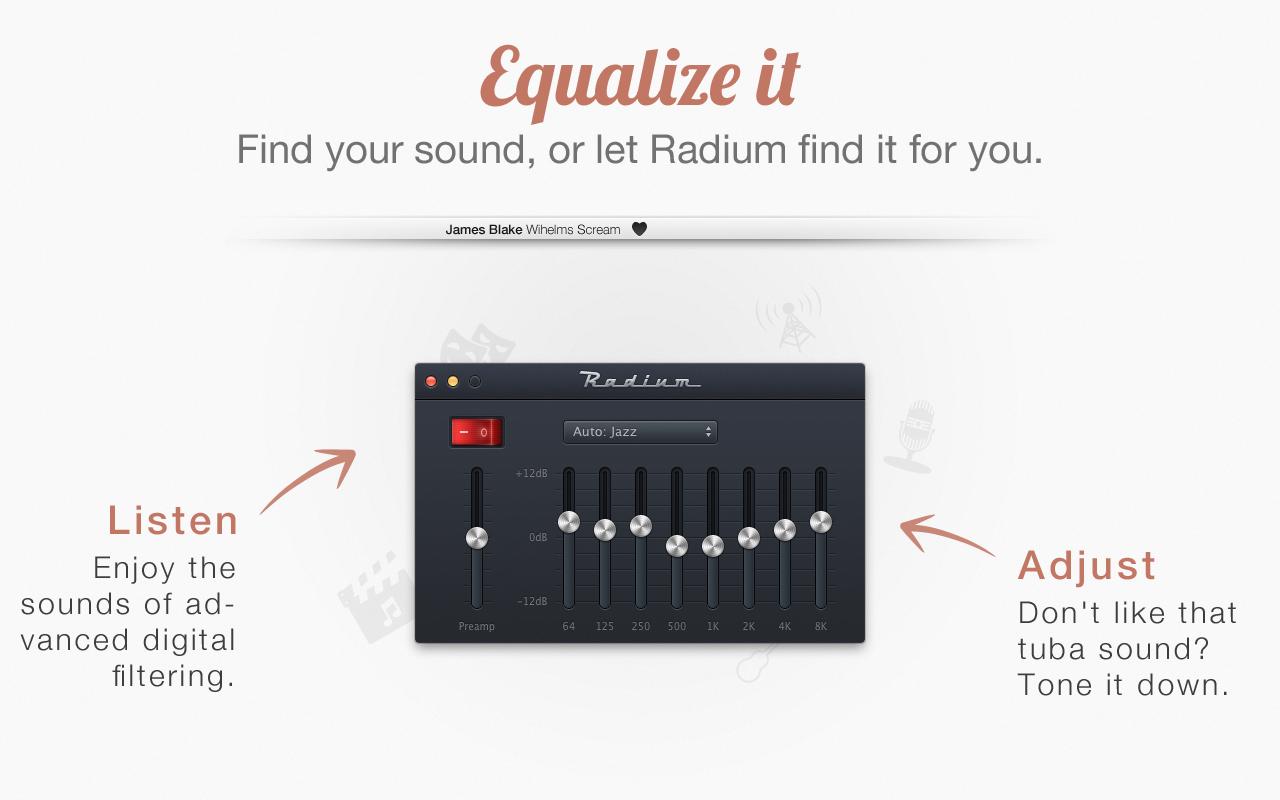 4 Equalize App4Mac: Radium 3, toutes les radios web sur votre Mac (8,99€)