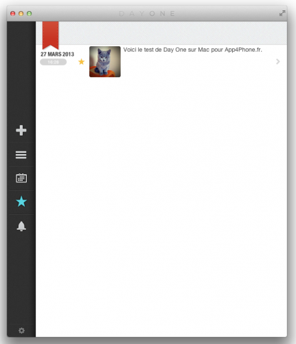 Capture d'écran 2013 03 26 à 16.32.301 431x500 App4Mac: Day One, le plus beau journal pour votre Mac (8,99€)
