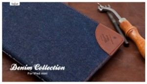 Etui Cuir KAJSA Denim Collection pour iPad Mini 300x172 Accessoire : très belles promotions cette semaine ( 50% sur une collection détuis)