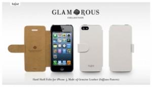Etui Cuir Kajsa Glamorous Saffiano pour iPhone 5 300x172 Accessoire : très belles promotions cette semaine ( 50% sur une collection détuis)