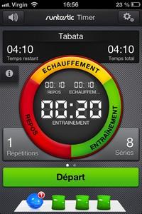 IMG 0509 Lapplication gratuite du Jour : runtastic Timer