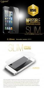 Protection ITG Verre trempé  152x300 Accessoire : [Pack] Etui + protection verre trempé iPhone 5 en solde à  50% (39,95€)