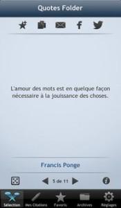 Quotes Folder resultat 175x300 Les bons plans de l'App Store ce mercredi 31 juillet 2013