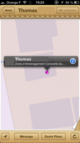astuce localiser mes amis 281x500 Astuce iOS : être prévenu de larrivée ou dun départ de vos amis