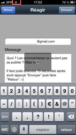 bug commentaire V4 App4Phone : Explications sur les problèmes pour poster un commentaire