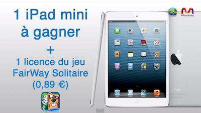 ipad mini bigfish Des licences illimitées à récupérer pour la version payante de Fairway Solitaire !