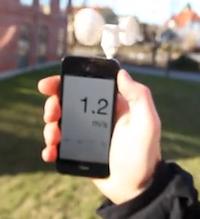 Accessoire Vent iphone 1 Accessoire : Vaavud (35€), instrument de mesure du vent sur votre iPhone