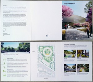 Brochure campus Apple 2 300x263 Futur campus dApple : respectueux de lenvironnement
