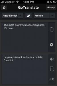 Copie décran 24 200x300 Test de GoTranslate (2,69€) : A new translator