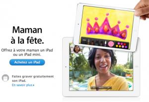 Fête des mères Apple 300x206 Apple prépare la fête des mères
