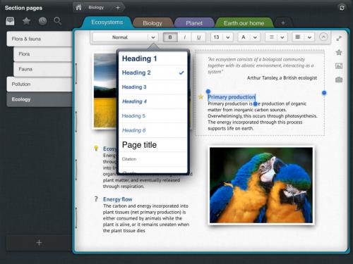Outline Screenshot 1 500x375 App4Mac: Outline, toutes vos notes OneNote sur votre Mac et votre iPad (17,99€ et 13,99€)