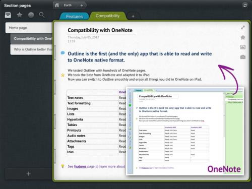 Outline Screenshot 2 500x375 App4Mac: Outline, toutes vos notes OneNote sur votre Mac et votre iPad (17,99€ et 13,99€)