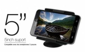 Support iPhone 5 pack 300x183 Accessoire : Promotion à  50% pour le pack support voiture + câble 3 en 1 (14,95€)