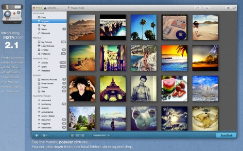 Test InstaDesk 1 500x312 App4Mac: Instadesk, votre compagnon Instagram (4,49€)