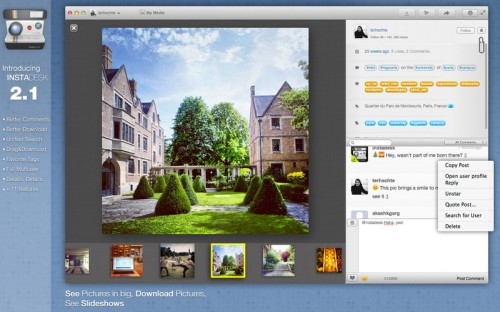 Test InstaDesk 2 500x312 App4Mac: Instadesk, votre compagnon Instagram (4,49€)