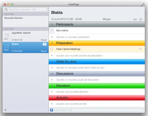 Test Meetings 3 500x393 App4Mac: avec Meetings, gérez toutes vos réunions (17,99€)