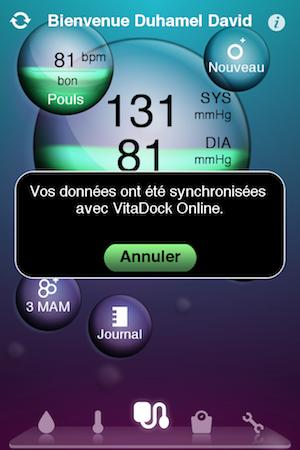 Test VitaDock 017 Test de VitaDock (gratuit) : lapp qui centralise les données de votre santé
