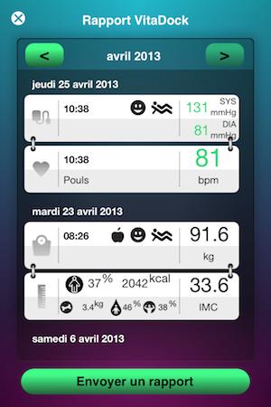 Test VitaDock 021 Test de VitaDock (gratuit) : lapp qui centralise les données de votre santé