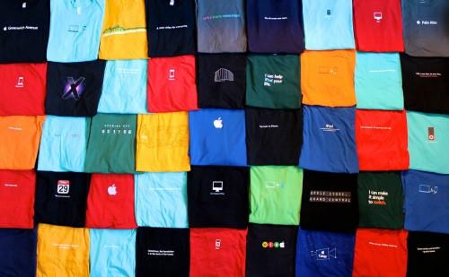 apQoZjc 500x309 Des Tee Shirts à la sauce Apple