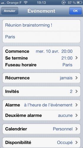 astuce ios calendrier inviter 2 281x500 Astuce iOS: inviter des correspondants à un événement de votre calendrier