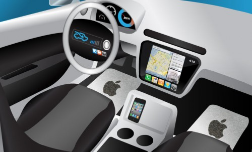 ios7 siri voiture 500x303 iOS 7 : Siri et Plans dans nos voitures ?