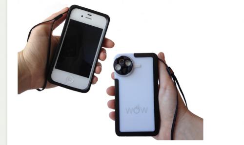the wow lens 500x298 Accessoire : The WoW Lens (50$), la coque multi lentilles pour iPhone 4/4S et 5