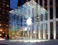Apple Store Le Cube Apple Store : la pomme aux pépins mouillés
