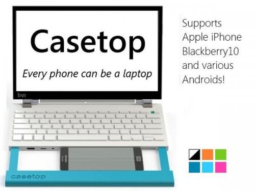 Casetop 1 500x375 Accessoire : Casetop (250$), transformer son smartphone en ordinateur