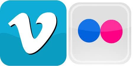 Flickr et Vimeo Vimeo et Flickr intégrés nativement à iOS7 ?