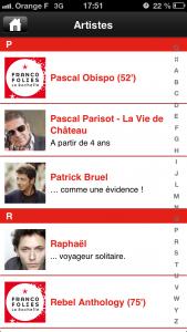 Franco 2 169x300 Application des Francofolies de La Rochelle (gratuit) pour préparer ses concerts