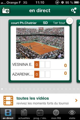 RolandGarros 3 333x500 Roland Garros (gratuit) vous tient informé des matchs de la saison