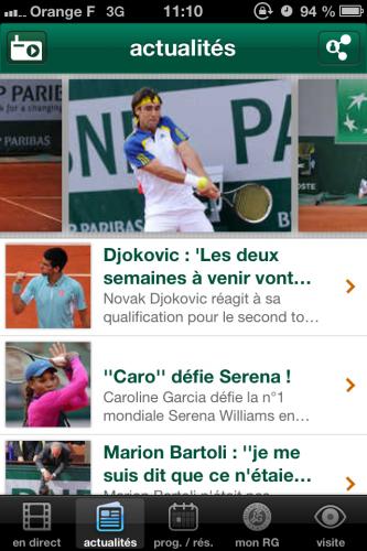 RolandGarros 4 333x500 Roland Garros (gratuit) vous tient informé des matchs de la saison