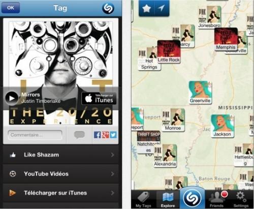Shazam iTunes 6.0 500x413 Shazam (gratuit) plus performant dans sa version 6.2.1