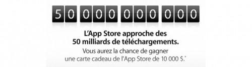 concours apple 50 milliards 500x134 Apple lance le concours des 50 milliards dapplications téléchargées